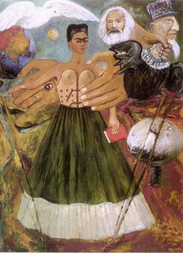 Obra de Frida Kahlo: O Marxismo dará saúde aos doentes