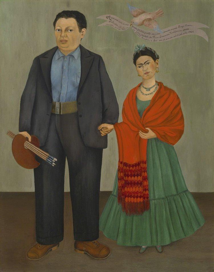 Obra de Frida Kahlo: Frieda e Diego Rivera