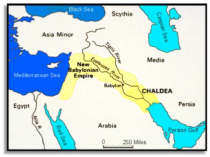 Mapa da região Caldéia