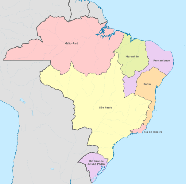 Guerra dos emboabas - Mapa após a guerra