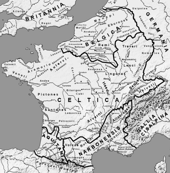 Mapa da Gália