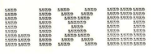Poemas visuais curtos: Lixo Luxo - Augusto de Campos