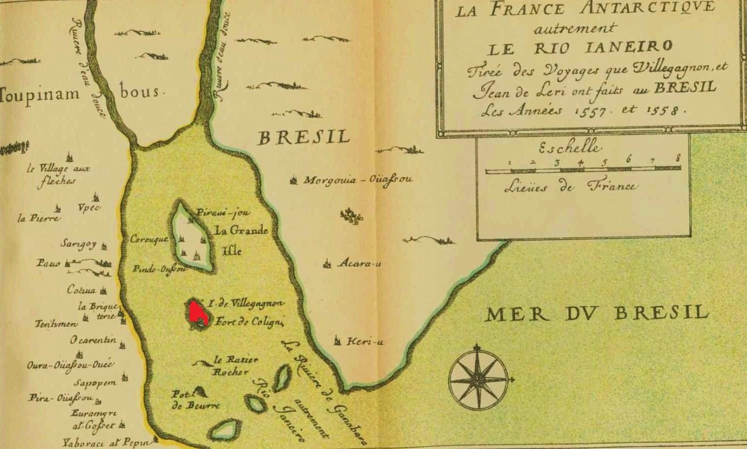 Mapa França Antártica