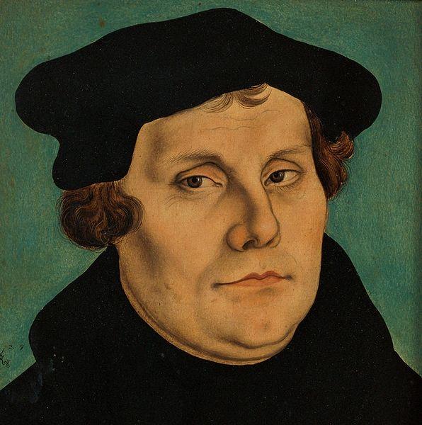 Martinho Lutero por Lucas Cranach