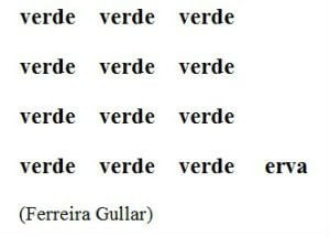 exemplo de poemas visuais: Verde erva - Ferreira Gullar