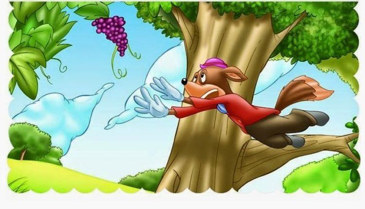 Interpretação da fábula a raposa e as uvas