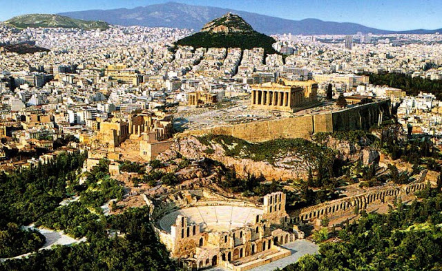 Cidade de Atenas nos dias de hoje