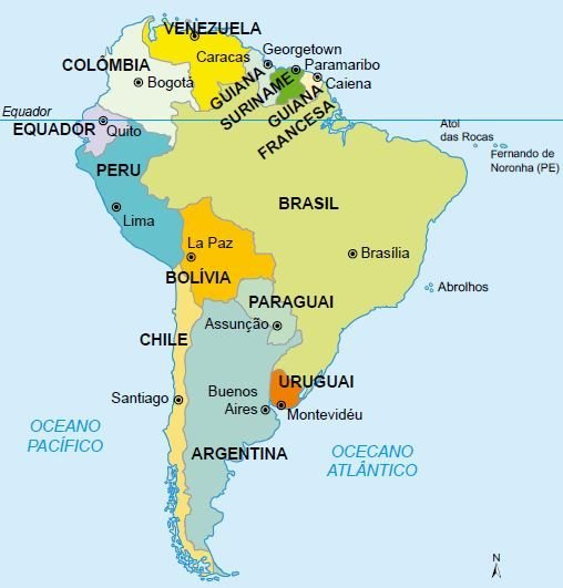 Limites e fronteiras do território brasileiro