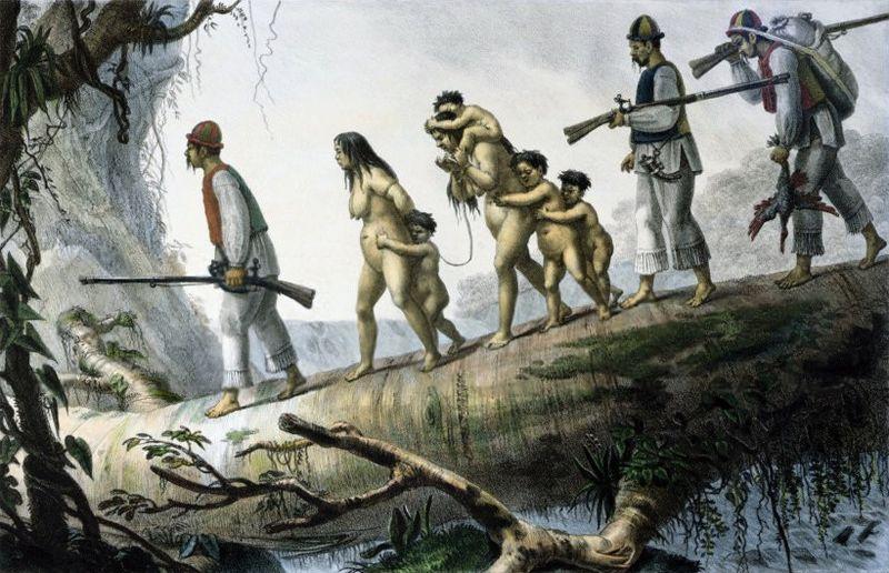 índio escravizados por soldados