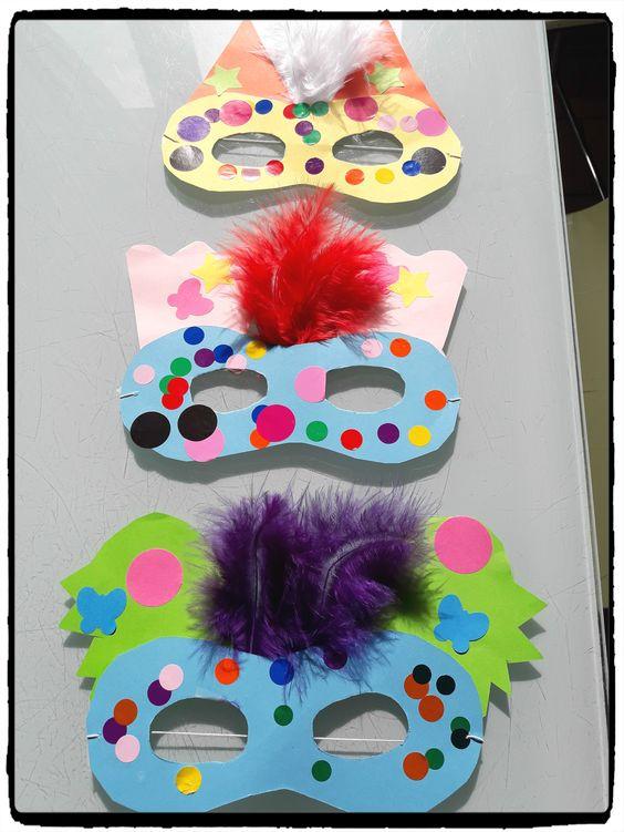 Mascara de Carnaval Peludinha
