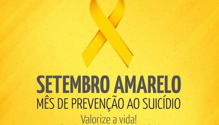 Mês do combate ao suicídio - Setembro Amarelo