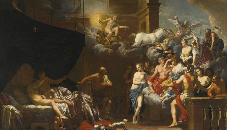 Hefesto surpreende Afrodite e Ares