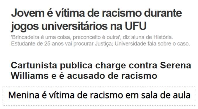 Vitimas de racismo