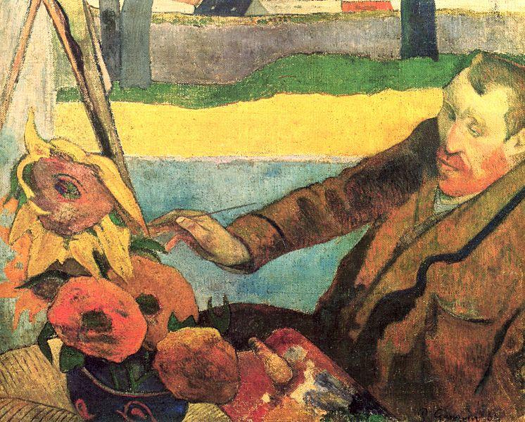 Vincent van Gogh pinta girassóis, 1888