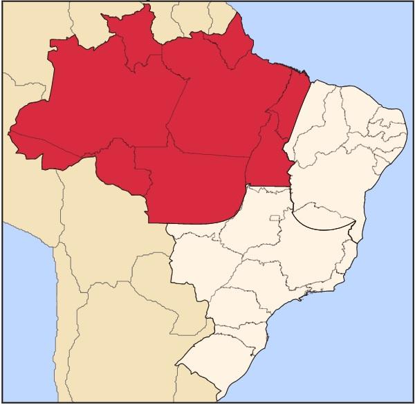 Mapa Amazônia Legal