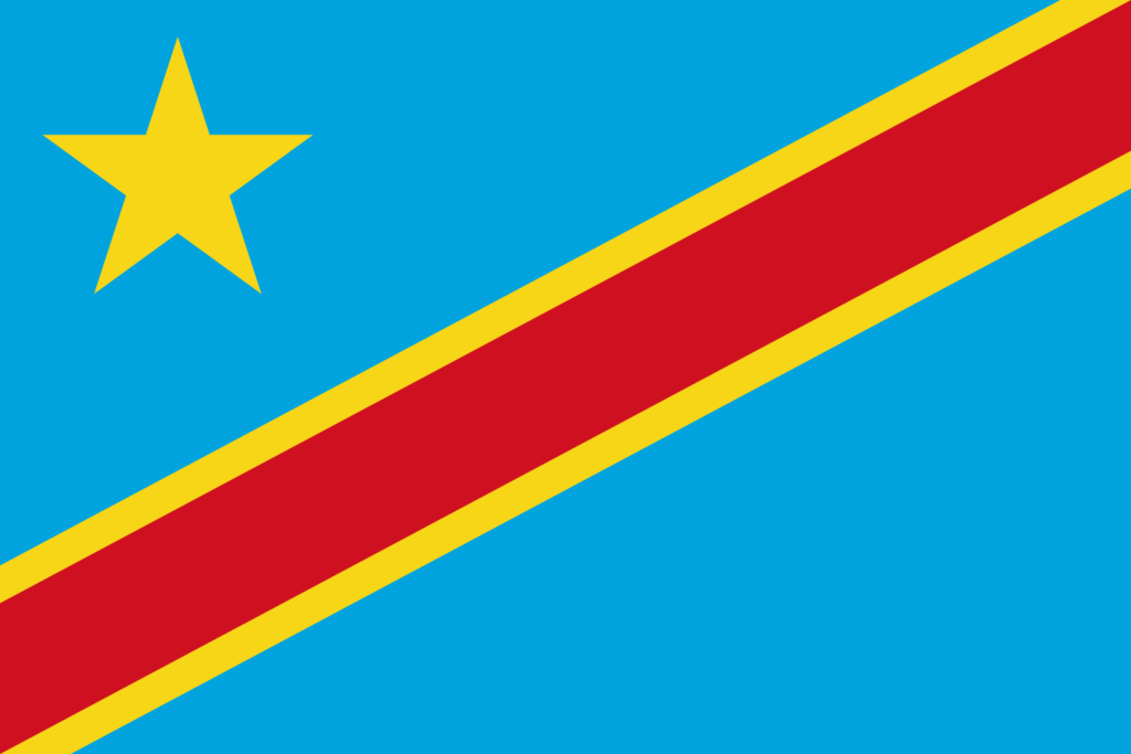 República Democrática do Congo (2,344,858 km)