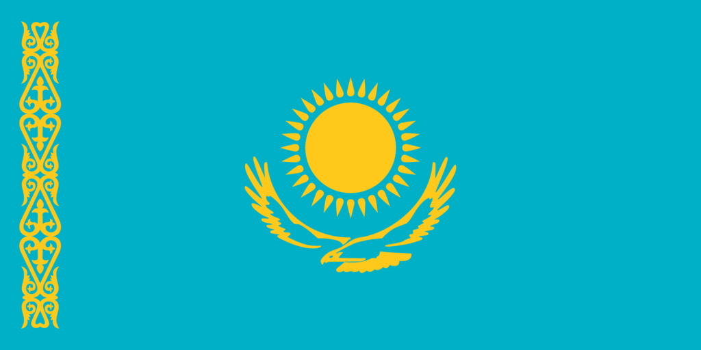 Cazaquistão (2,724,900 km)