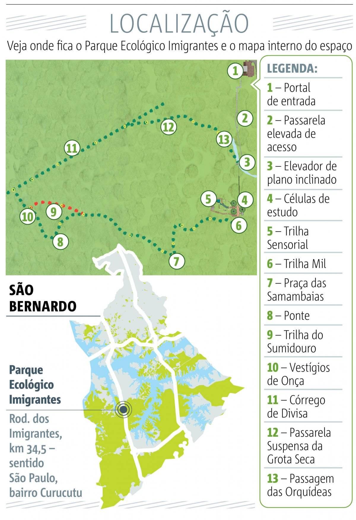 Mapa do Parque Ecológico