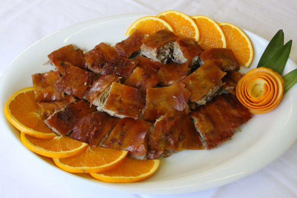comida portuguesa fácil de fazer - Leitão a Barrada