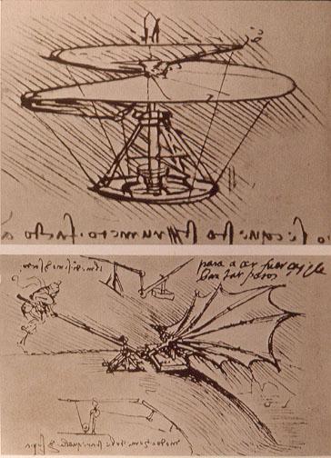 Projeto de Leonardo da Vinci - Máquina Voadora