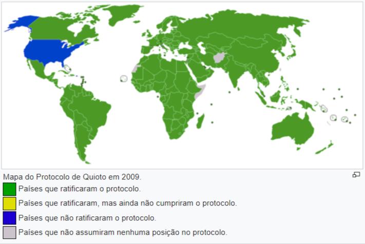 Mapa do Protocolo de Kyoto
