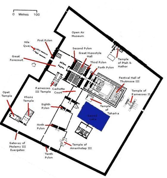 Mapa Templo de Amon-rá