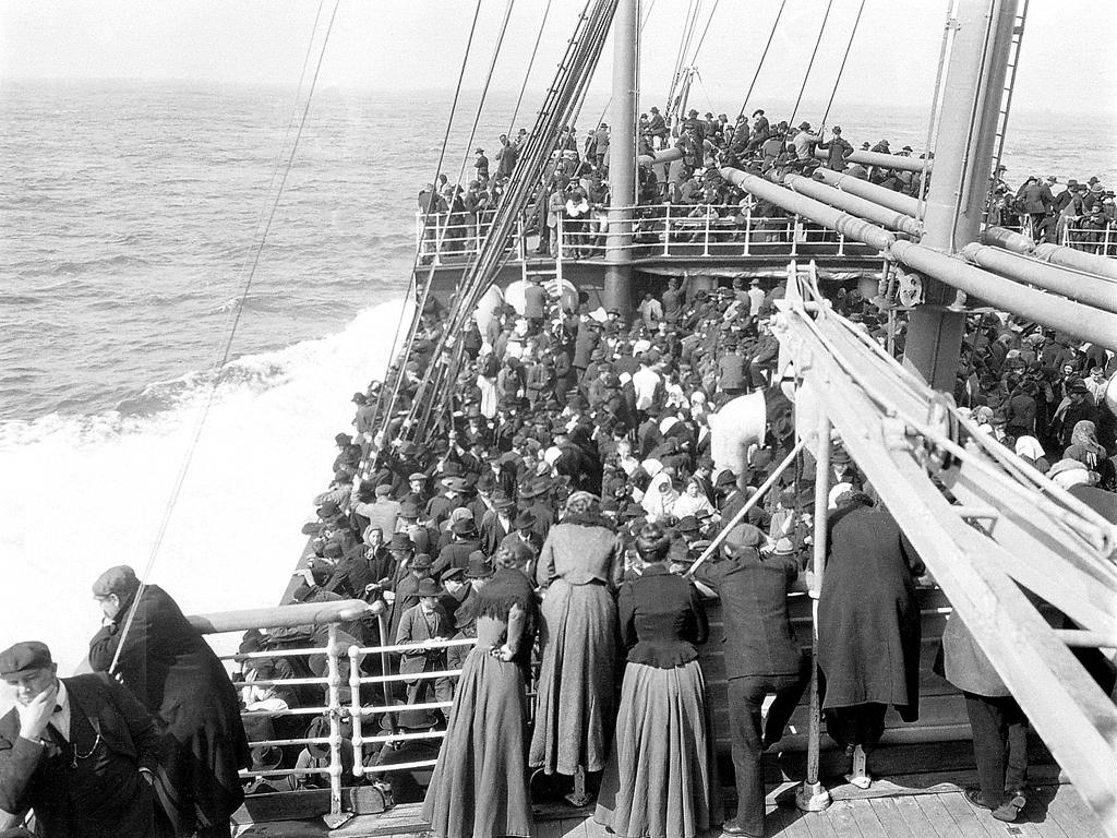 Navio com Imigrantes Italianos