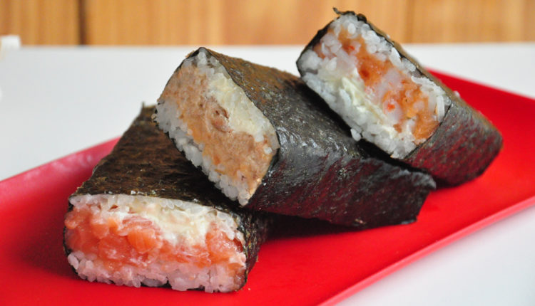 Comida Musubi do Havaí