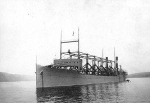 USS Cyclops no rio Hudson em 1911.