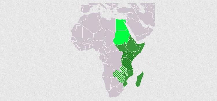 África Oriental mapa