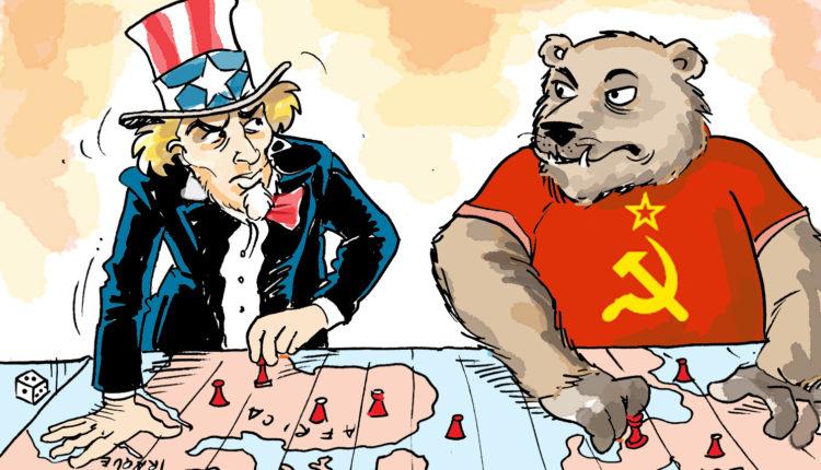 Imagem do capitalismo e comunismo