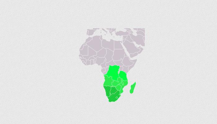 Mapa África Austral