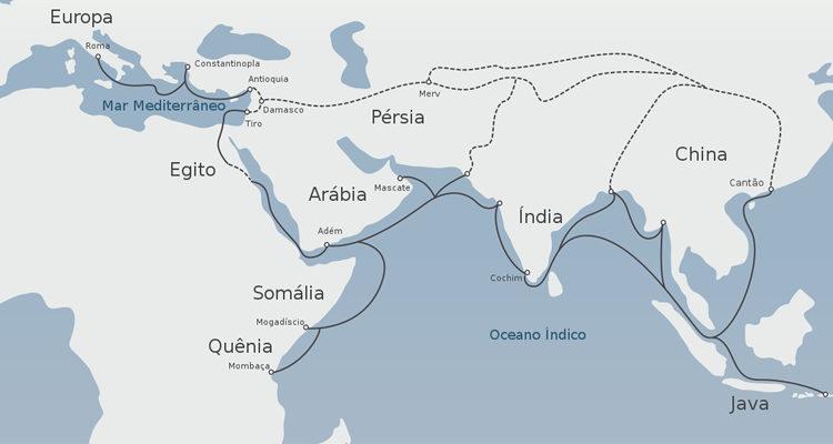 Mapa da Rota da Seda