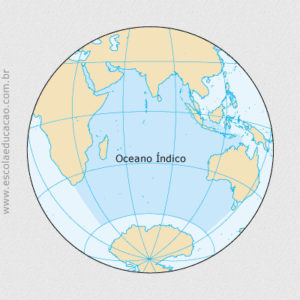 Onde fica o Oceano Índico