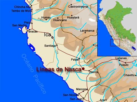 Mapa da localização de Nazca