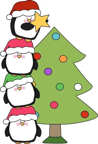 Pinguins e árvore de natal