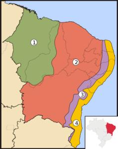 Mapa do sertão nordestino