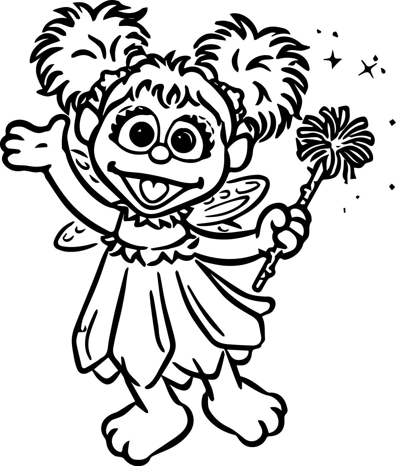 figura de carnaval para colorir - Fada