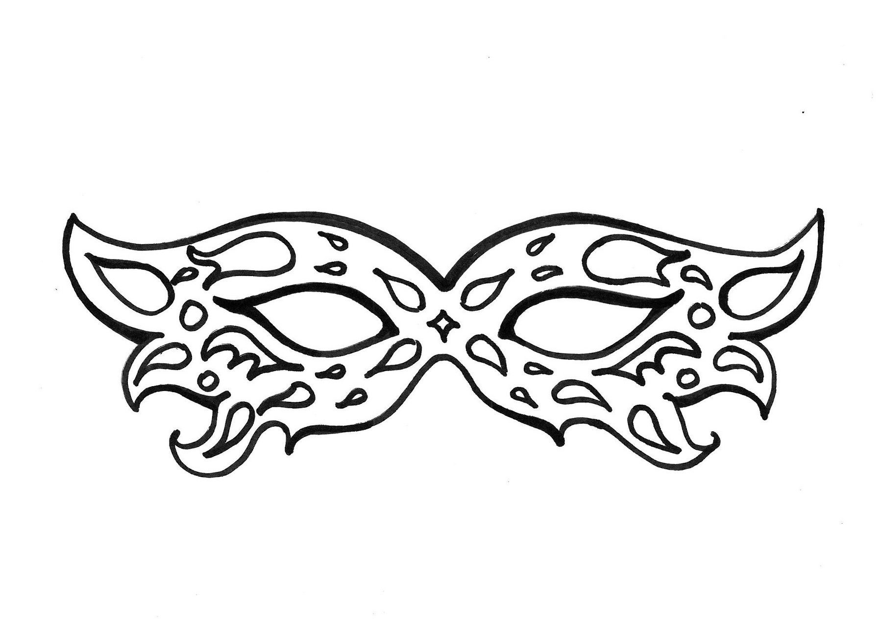 mascaras de carnaval para colorir