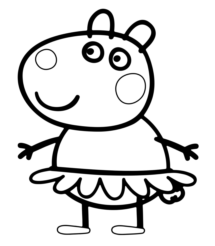 Desenho da peppa pig para colorir no carnaval