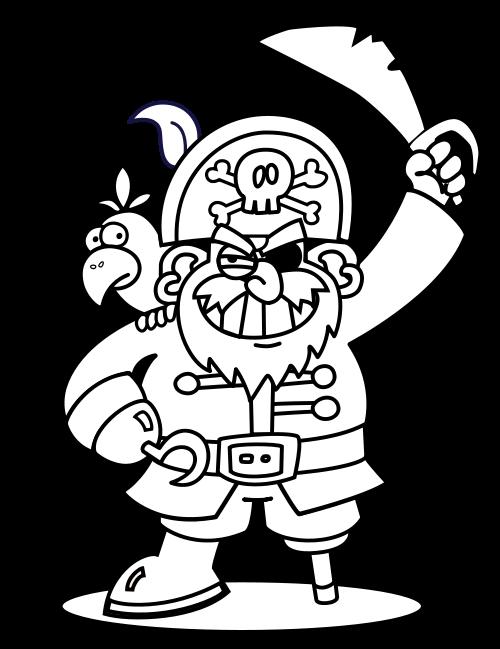 Imagem de pirata para colorir no carnaval