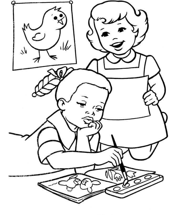 Atividade primeiro dia de aula – Desenhos para colorir