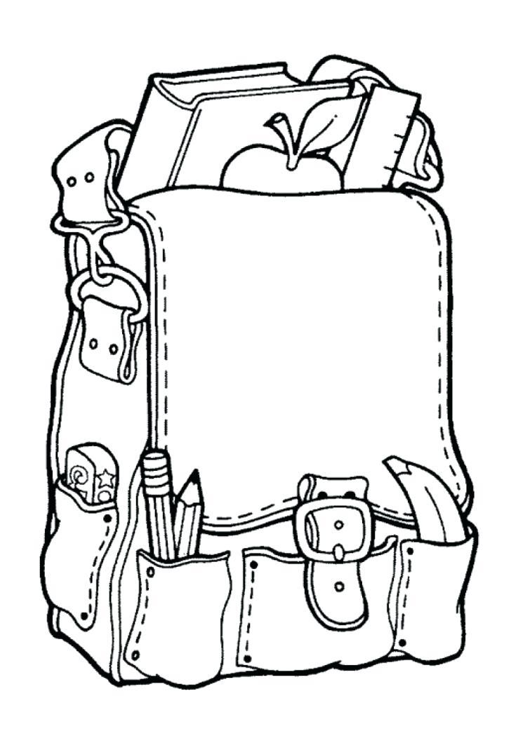 Atividade primeiro dia de aula – mochila para colorir