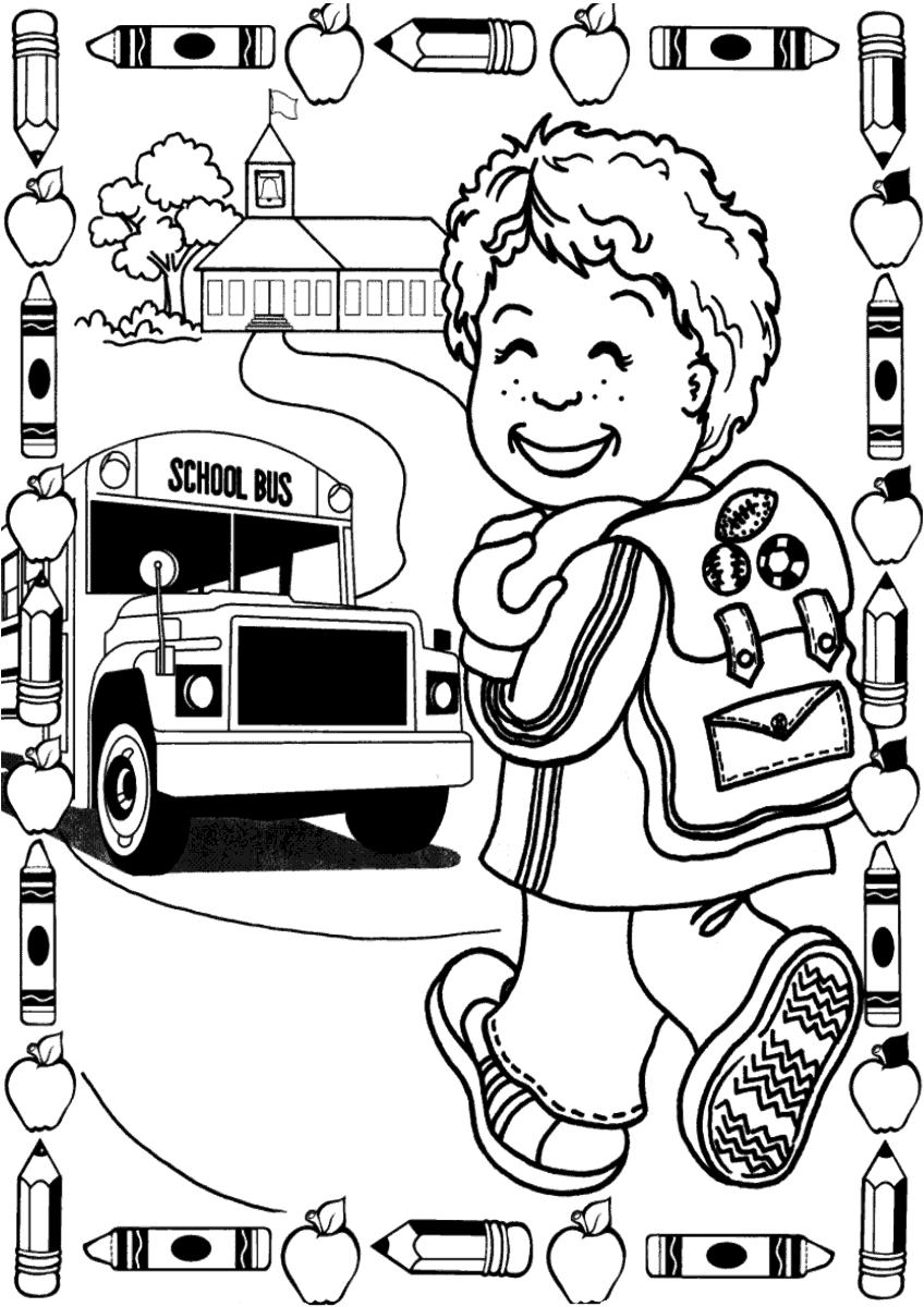 Atividade primeiro dia de aula – Criança voltando as aulas