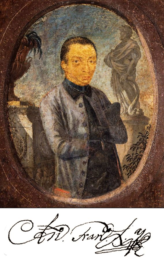 Acredita-se ser um retrato de Aleijadinho criado pelo artista Euclásio Ventura