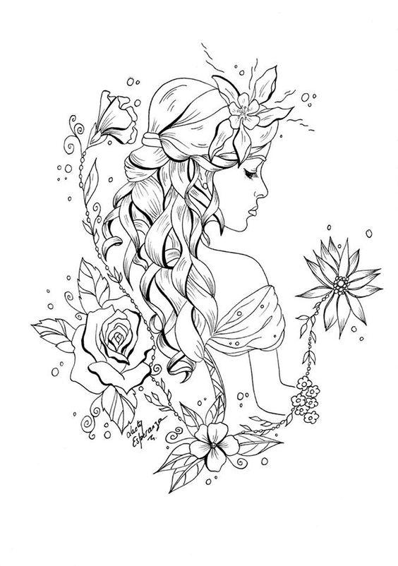 Atividade dia da mulher - Desenho colorir