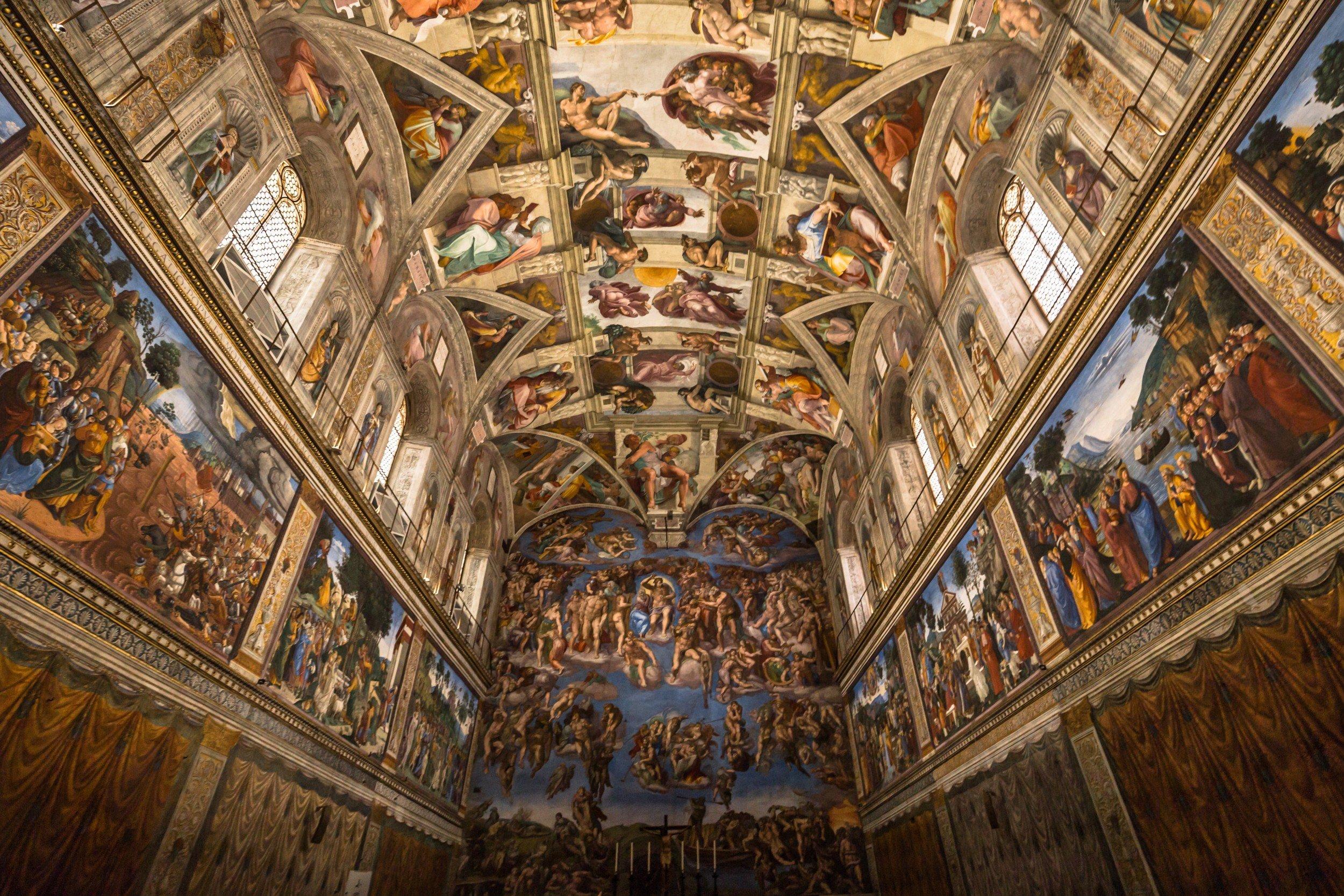 Teto Capela Sistina do Vaticano