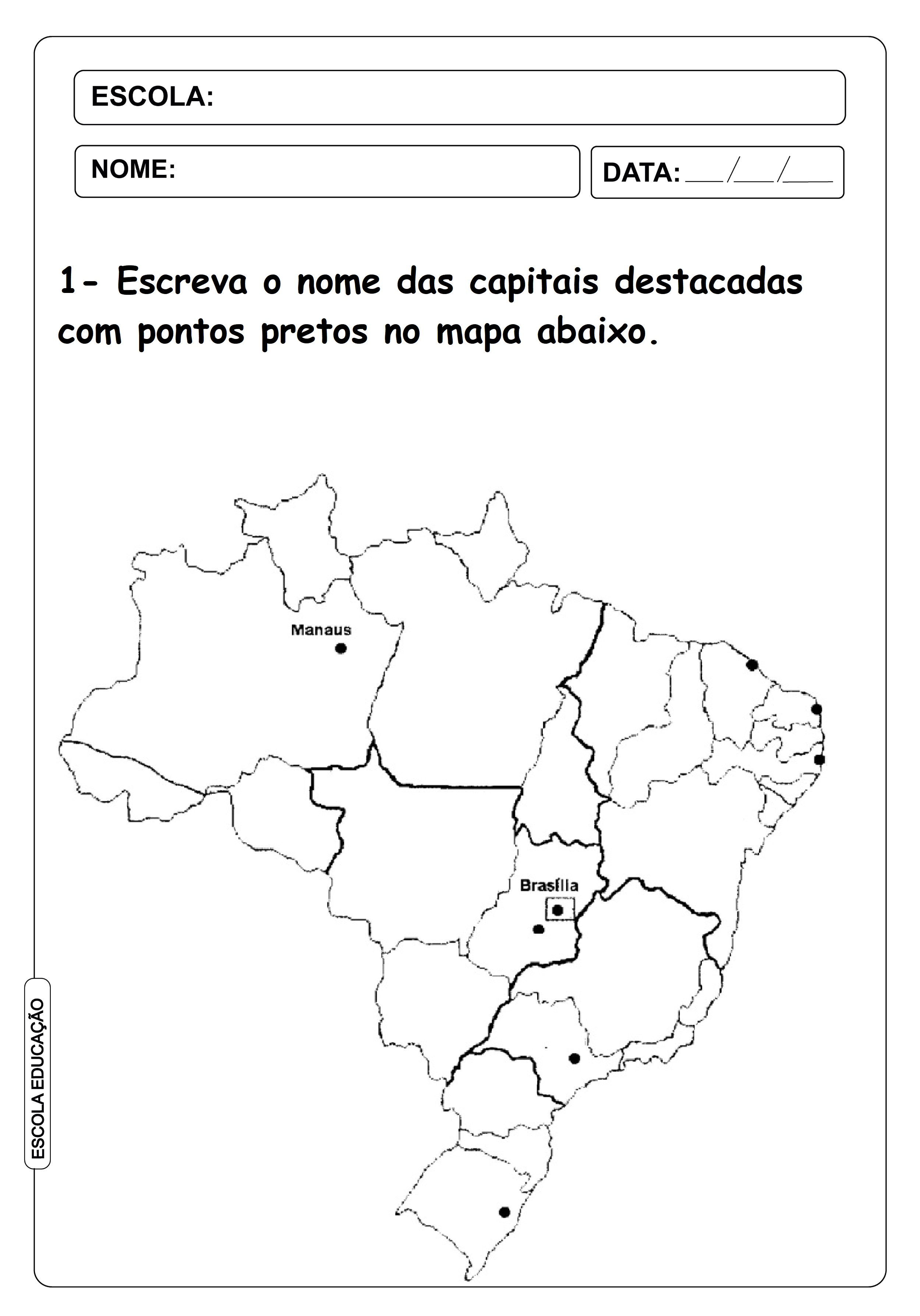 6 Mapas Do Brasil Para Colorir E Imprimir Escola Educacao