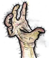 Mão cabeluda: