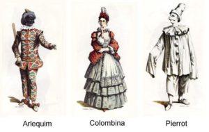 Pierrô, Arlequim e Colombina